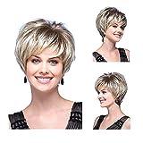 Tonake 390 Stylish New Blonde Short Straight Hair Wig Heat Resistant for Women Lady
