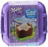Milka Chocolat de Pâques Oeufs Coques Lait 136 g - Lot de 2