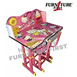 #10: Furniture First HELLO KITTY Melamine Graphics and Glossy Lamination Kids Study Table & Chair Set for Kids Age between 3-11 Years, Originally imported by FURNITURE FIRST