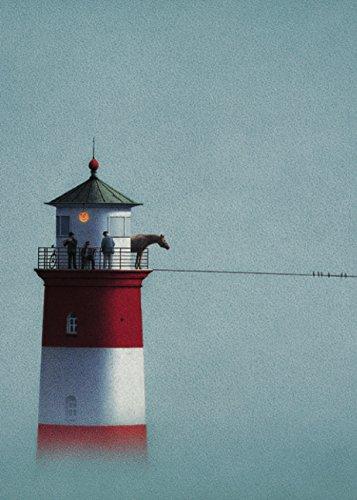 Postkarte A6 • 2881 ''Leuchtturm im Nebel'' von Inkognito • Künstler: Quint Buchholz • Fantastik -
