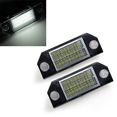 2-white-24-led-number-license-plate-lights-lamps-bulbs-for-ford-focus-2-c-max