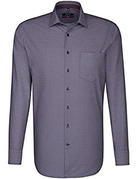 SEIDENSTICKER Herren Hemd Modern Langarm Bügelleicht Businesshemd Kent-Kragen Kombimanschette weitenverstellbar