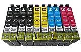 10 komp. XL Druckerpatronen für Epson Expression Home XP 235 245 247 332 335 342 345 432 435 442 445 Epson 29XL ( 4 x schwarz 2 x blau 2 x rot 2 x gelb )