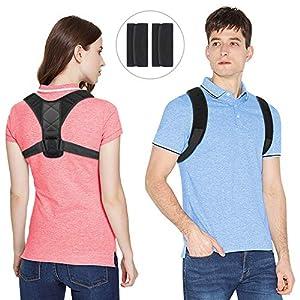 Kany Haltungskorrektur Geradehalter, Rückenbandage Rückenstütze Rücken Geradehalter Schulter Posture Corrector Haltungstrainer mit Verstellbare Größe für Damen und Herren