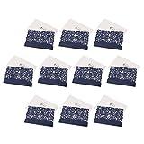 Sharplace 10er Set Einladungskarten mit Umschläge in Elegant Spitze Design Für Hochzeit Geburtstag Taufe Party Einladung, 3 Farben - Blau