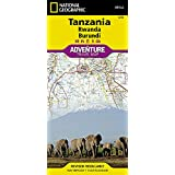 Tanzania, Rwanda, Burundi Travel Maps International Adventure Map