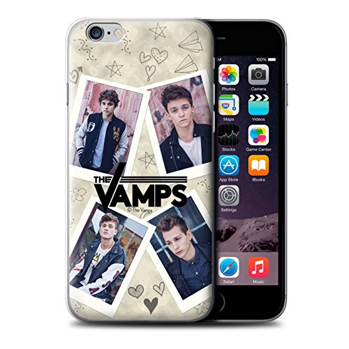 Offiziell The Vamps Hülle / Case für Apple iPhone 6S+/Plus / Pack 5Pcs Muster / The Vamps Doodle Buch Kollektion Mappe
