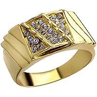 Anillo de diamante de boda para hombre, joyería, recuerdo para boda, compromiso, día de San Valentín Estándar #5