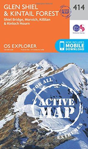 Glen Shiel and Kintail Forest 1 : 25 000 (OS Explorer Active Map)