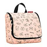 reisenthel toiletbag cats and dogs rose Maße: 23 x 20 x 10 cm / Maße: 23 x 55 x 8,5 cm expanded /...