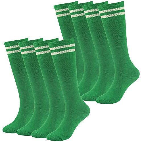 Lucky Commerce Teens Soccer Football Socks Boys Girls Cotton Knee High Team Socks Children Sport Sock 2/4/8 Pairs