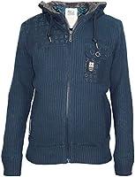 New Mens Crosshatch Knitted Fur Hooded Cardigan Designer Lined Jumper Jacket Top