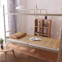 WXH Estera De Bambú De Doble Cara Doble Estera De Estudiante Plegable De Bambú del Dormitorio Sin Rebabas La Protección del Medio Ambiente Natural Sin Olor