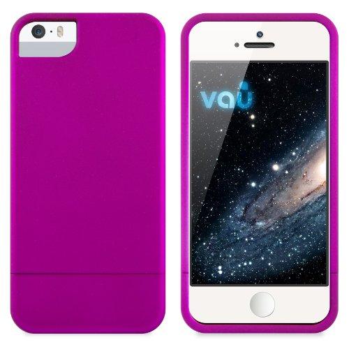 vau Snap Case Slider Hülle - matt lila - zweigeteiltes Hard-Case kompatibel zu Apple iPhone 5, 5S und iPhone SE (Harte Handyhülle innen weich gefüttert) Apple Iphone Snap Lila