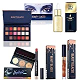 Beauty Glazed Christmas Gift Makeup Set Box 18 Colors Eyeshadow Palette Matte Edition Textured Eyeshadow Pallete 24K GOLD INFUSED BEAUTY OIL Matte Lipstick