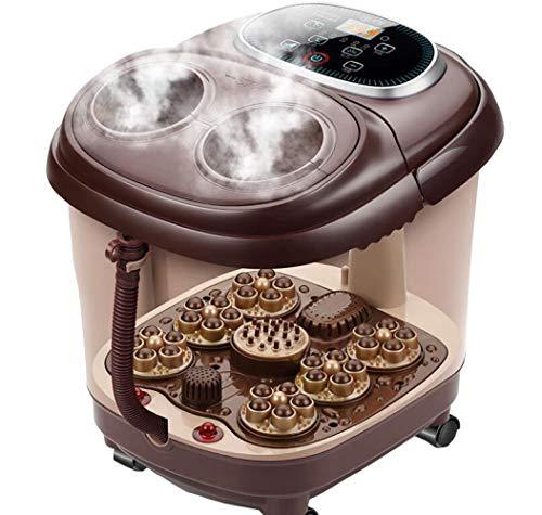 BLOIBFS Pie Baño Masaje Automático Casa Máquina De Pie Calefacción Pie De Burbuja Pie Barril Pies Eléctricos Lavabo
