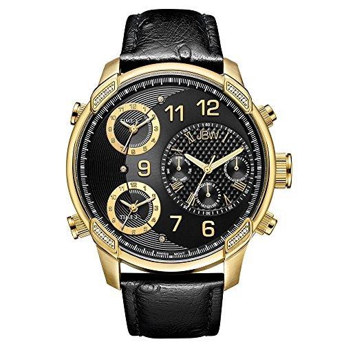 JBW Hombres de edición limitada G4piel 0,19quilates diamante reloj j6353C