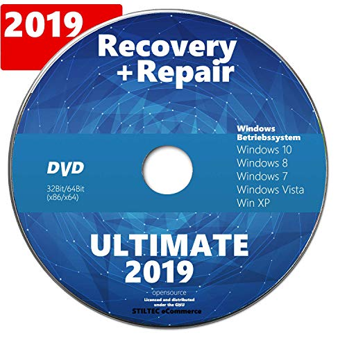 Recovery & Repair 2020 CD DVD für Windows 10 +7+ 8 + Vista + XP Bootfähig/ Notfall CD / Computer Reparatur - Pc-software