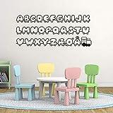Dänische Buchstaben Aufkleber Vinyl Wandaufkleber für Kinderzimmer Dekor