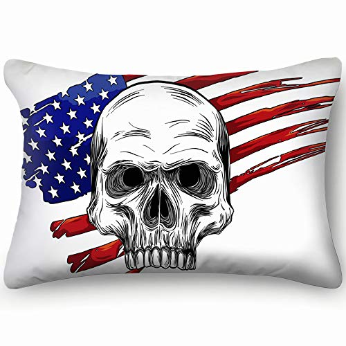 usa Character Signs Symbols Character Signs Symbols Decorative Pillow Cover Soft and Cozy, Standard Size 20