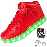 Shinmax Hallo-Top LED Schuhe 7 Farben Andern Mit Leuchtender USB Aufladbar...