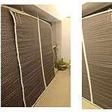 TCLPVC Bamboo Curtain, 4 Feet, Beige, Pack of 1