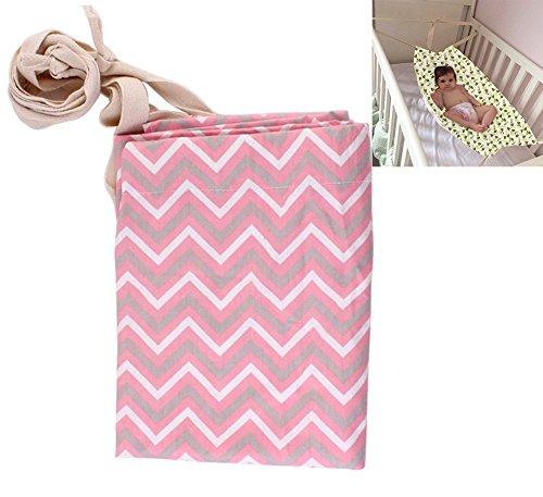 Lvbeis Baby Hängematte Sicherheits Einstellbares Neugeborenes Bett Nestchen(2-12 Monate),Pink