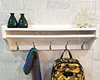 Multi - functional three - tier structure Wall Mounted Coat Rack, Wall Organizer and Shelf  ▲The top is Shelf, fill for small baskets, gloves, purses, hats and books ▲The middle is one Horizontal bar, you can hang large pieces of towels, scarves, or ...