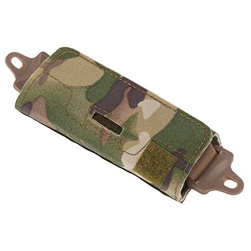 Taktisches Helmzubehör Helm Balancing Gewicht Tasche, Airsoft Helm Zubehör Tasche Schiene Gegengewichtstasche für OPS/Fast/BJ/PJ/MH mit Blöcken(Camouflage)