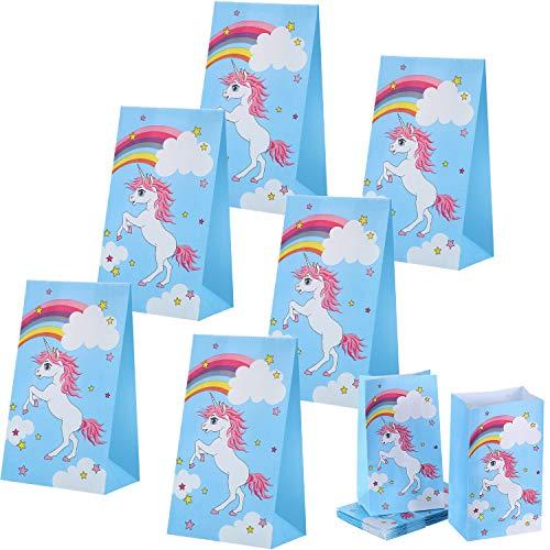 Blulu 30 Packung Einhorn Party Taschen Party Favor Taschen Goodies Geschenk Favors Supplies Dekorationen für Kinder Geburtstag