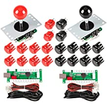 EG STARTS 2 jugadores Arcade Game Kit Piezas USB Pc Joystick para Mame Game DIY USB