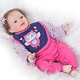 Realista 22 pulgadas muñecas bebé renacido silicona suave realista recién nacido sonriente bebés niños regalo de cumpleaños de los niños