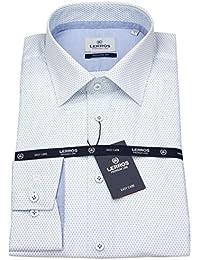Lerros Herren Hemd Modern Fit Print weiß / hellblau 4631425 418