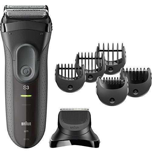 Braun Series 33000BT Shave N Style Nasse Und Trockene grau Bartschneider–Haarentferner für die BART (1mm, 7mm, grau, Edelstahl, Eingebaut, MH (NiMH))