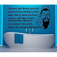 WC Deckel Aufkleber Boden pissen Toiletten lustig Spruch Badezimmer Klo 1K172 Farbe:Azurblau glanz