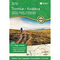 Carte de randonnée Norvège | Tromsø-kvaløya Topo 30001: 50000