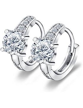 Modische Ohrringe Creolen Blume Echt 18k Vergoldet Silber 925 Swarovski Elements Für Frauen Damen Kinder Mädchen...