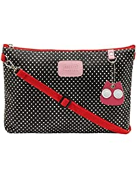 ESBEDA Black Color Polka Dots Print Nylon Material Slingbag For Women