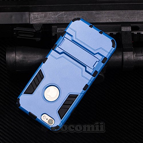 iPhone 6S / iPhone 6 Coque, Cocomii Iron Man Armor NEW [Heavy Duty] Premium Tactical Grip Kickstand Shockproof Hard Bumper Shell [Military Defender] Full Body Dual Layer Rugged Cover Case Étui Housse  Blue