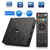DishyKooker HK1 Mini 2+16GB Android 8.1 Smart TV Box RK3229 4K 3D H.265 WiFi Media Player 2G+16G UK Plug,Multifunctional HD Digital Box TV Converters Set Top Box