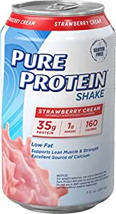 Pure Protein 325 ml Shake - 35 g of Protein - 12 RTD (Strawberry Cream)