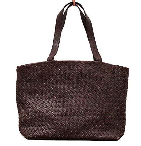 LE TRESSAGE Indus cabas en cuir tressé sac à main style vintage PAUL MARIUS