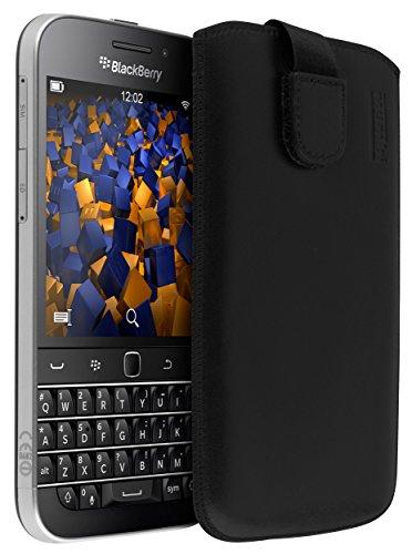mumbi ECHT Ledertasche für BlackBerry Classic Tasche Leder Etui (Lasche mit Rückzugfunktion Ausziehhilfe)