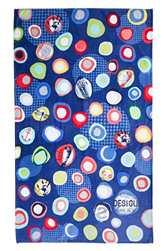 Desigual Manolos Asciugamano da Bagno, 5000 Navy (Blu), 150 x 95 x 5 cm