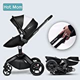 Hot Mom Limited Edition Kombikinderwagen und Buggy Sportwagen 3-in-1 Travelsystem 2016 mit Babywanne ,Schwarz - 9