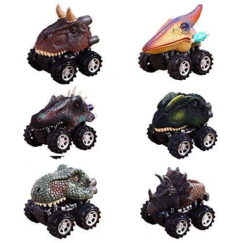 Weihnachtsgeschenke für 2-6 Jahre alte Jungen, GZMY Ziehen Dinosaurier Autos Zurück Spielzeug für 2-6 Jährige Jungen