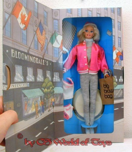 1996-barbie-at-bloomingdales-barbie-shopping-en-tenue-rose-fluo-et-grise-speciale-edition-16290