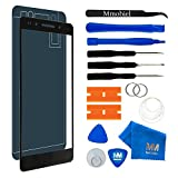MMOBIEL Front Glas Reparatur Set für Honor 7 (Grau) 5.2 Inch Display Touchscreen mit 11 TLG. Werkzeug-Set/passgenauem Klebe-Sticker/Pinzette / Saugnapf/Metall Draht/Tuch