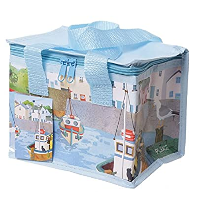 Gorgeous British Seaside Pack Away Woven Lunch Box