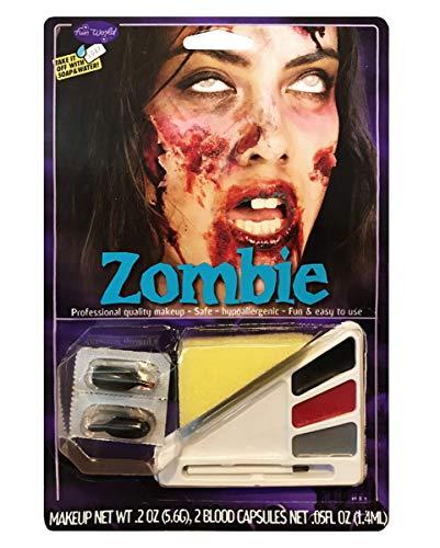 Horror-Shop Mehrteiliges Zombie Girl Schminkset für Halloween